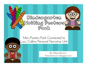 Personal Narrative Poster Pack - Kindergarten