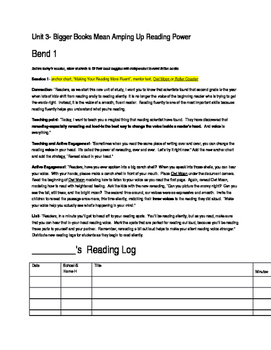 Lucy Calkins 2nd Grade Reading-Bigger Books Mean Amping Up Reading Power- Bend 1