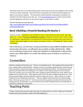 Lucy Calkins 3rd Grade-Building a Reading Life Bend 1