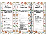 Lucy Calkins 3rd Grade Unit 1 Building a Reading Life Bookmarks, Superhero Theme