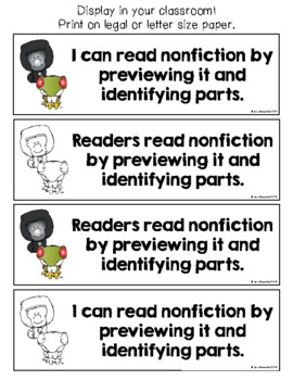 Lucy 3rd Grade Unit 2 Teaching Points & I Can Statements