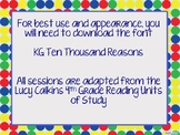 Lucy Calkins 4th Grade Reading Unit 3 Bend 1 Session 1-9 P