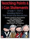 Lucy 4th Grade Unit 3 Teaching Points & I Can Statements