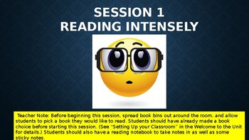 Lucy Calkins 4th Reading Unit 1 Session 1