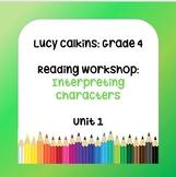 Lucy Calkins Lesson Plans - 4th Grade- Reading Workshop: I