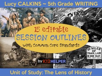 Lucy Calkins Information Writing: 5th Grade: 15 Session Outlines