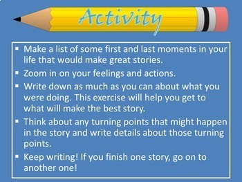 Lucy Calkins 5th Grade Writing Unit 1 Ses. 1 Activboard Flipchart Activinspire