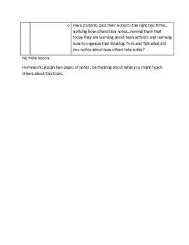 Lucy Calkins 6th Grade Unit 3 Session 2