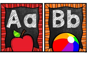 Lucy Calkins ABC Alphabet Word Wall Cards