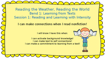 Lucy Calkins:Bend 1: Reading the Weather, Reading the World Session 1 PPT