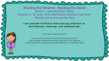 Lucy Calkins:Bend 1: Reading the Weather, Reading the Worl