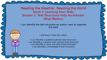 Lucy Calkins: Bend 1: Reading the Weather, Reading the World Session 3 PPT