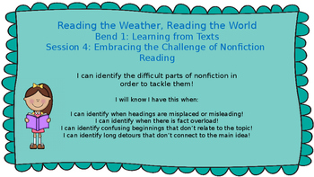 Lucy Calkins: Bend 1: Reading the Weather, Reading the World Session 4 PPT