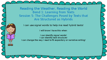 Lucy Calkins: Bend 1: Reading the Weather, Reading the World Session 5 PPT