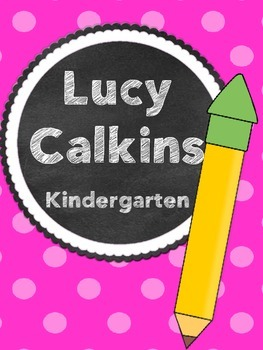 Lucy Calkins Binder Covers
