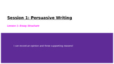 Lucy Calkins Boxes and Bullets: Personal and Persuasive Essays Session 1-1 PPT