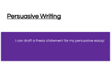 Lucy Calkins Boxes and Bullets: Persuasive Essays Session 1-5 Thesis PPT
