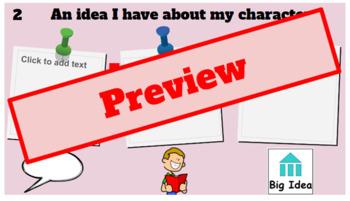Lucy Calkins' Character Studies Google Slides Notebook (Bend 1)