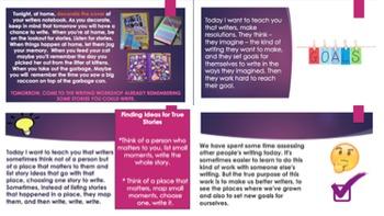 Lucy Calkins Crafting True Stories (Grade 3) Bend 1