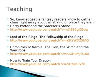 Lucy Calkins Fantasy Unit - PowerPoint of Daily Lesson