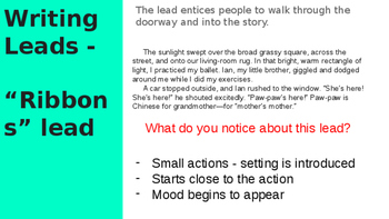 Lucy Calkins Fiction Writing PPT  Bend 2