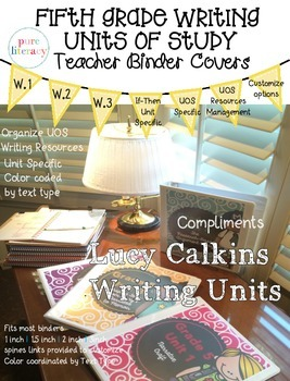 Lucy Calkins Fifth Grade Writing Units of Study Teacher Binder Covers
