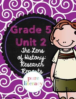 Fifth Grade Writing Units of Study Teacher Binder Covers