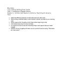 First Grade Lucy Calkins List of Big Ideas Unit 2 - editable
