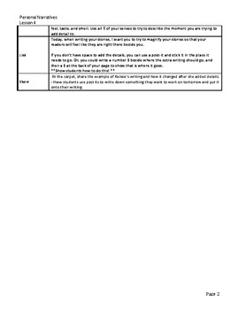 Lucy Calkins Grade 2 Personal Narratives Unit Lesson 4