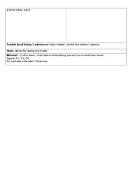 Lucy Calkins, Grade 3 Reading Lesson Plan: Unit 2: Reading to Learn: Lesson 9