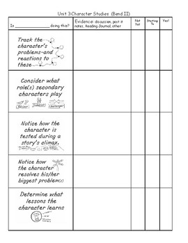 Lucy Calkins, Grade 3, Reading, Unit 3, Character Studies - Assessment
