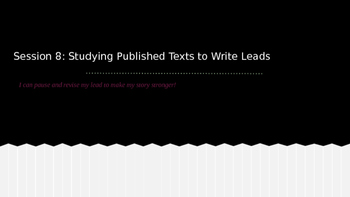 Lucy Calkins Grade 4 The Arc of Story: Writing Realistic Fiction Session 8 PPT