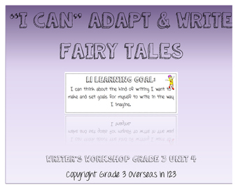"""Once Upon a Time: """"I can"""" Statements for Lucy Calkins Grade 3 Unit 4"""