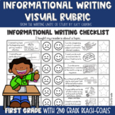 Visual Rubric for Informational Writing with Lucy Calkins: