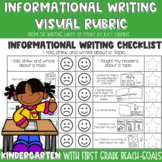 Lucy Calkins Informational Writing Checklist for Kindergarten and First Grade