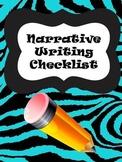 Lucy Calkins Inspired Narrative Checklist-Kid Friendly