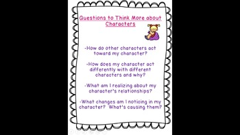 Lucy Calkins: Interpreting Characters: Anchor Charts Bend 2