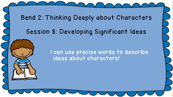 Lucy Calkins: Interpreting Characters: The Heart of the Story Session 10 PPT