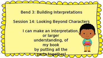 Lucy Calkins: Interpreting Characters: The Heart of the Story Session 14  PPT