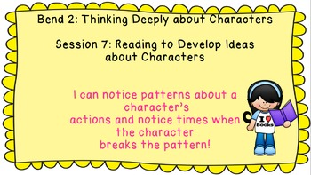 Lucy Calkins: Interpreting Characters: The Heart of the Story Session 7 PPT