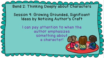 Lucy Calkins: Interpreting Characters: The Heart of the Story Session 9 PPT