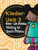 Kinder Writing Units of Study Teacher Binder Covers