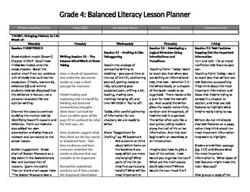 Lucy Calkins Lesson Plans 4th grade Information Writing