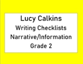 Lucy Calkins Writing Checklists Narrative and Information Grade 2