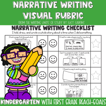 Lucy Calkins Narrative Writing Checklist For Kindergarten And First Grade