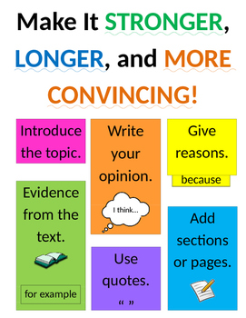 Lucy Calkins Opinion Writing Anchor Chart - Grade 2