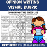 Visual Rubric for Opinion Writing with Lucy Calkins: 1st and 2nd Grades