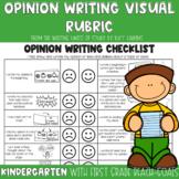 Lucy Calkins Opinion Writing Checklist for Kindergarten an