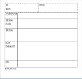 Lucy Calkins Planning Template
