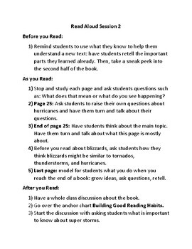 Lucy Calkins Plans-1st Grade Reading Workshop-Read Aloud & Shared Reading Unit 2